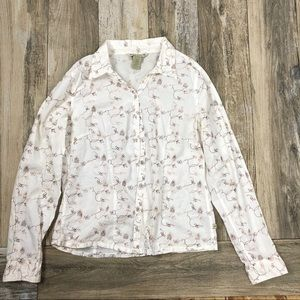 Horny Toad Medium Button Up Shirt